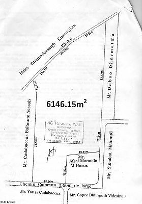 Land for sale in  Mauritius 1 acre and three quarters
