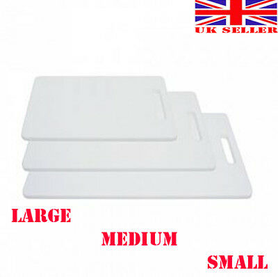 White Plastic Large Medium small Chopping Board Kitchen Cutting Board