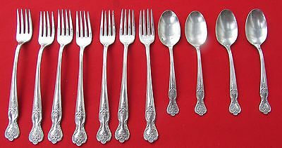 1951 Magnolia aka Inspiration Pattern Lot of 11 Pieces By Wm Rogers Silver Plate