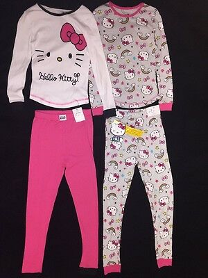 Set of 2- Hello Kitty Girls Size 8 Pajamas Long Sleeve 100% Cotton