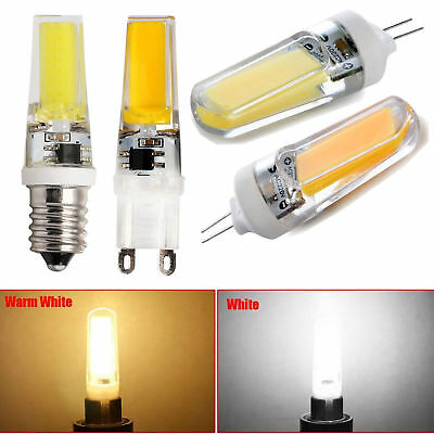 Mini G4 G9 E14 Dimmable 8W 10W COB LED Bulb Lights Silicone Crystal Lamp Bright