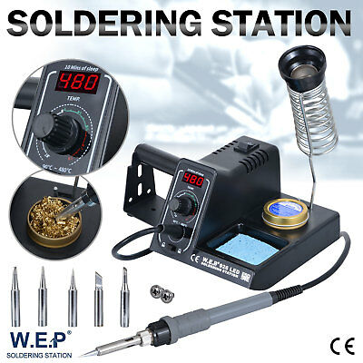 WEP 60W Soldering Iron Station Rework Kit Variable Temperature Stand Digital LED