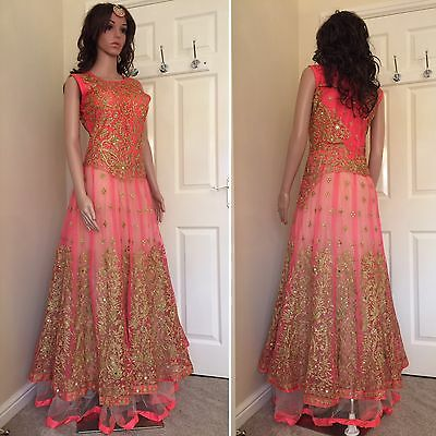 READYMADE Asian,Gown ,Anarkali Salwar Suit.UK SIZE: 12 (bust size-40,Length-61)