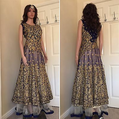 READYMADE Asian,Gown ,Anarkali Salwar Suit.UK SIZE: 12 (bust size-40,Length-60)