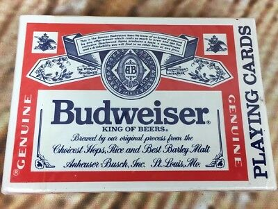 NEW Budweiser Beer Deck of Playing Cards Sealed United States Playing Card Co.