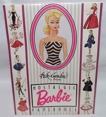 New-Vintage 1989 The Peck-Gandre Nostalgic Barbie Paper Doll Set- 16 Fashions!