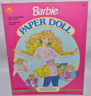 New-1990 Golden Book-Barbie Paper Doll Book-1 Doll-16 Fashions+Accessories+Case!