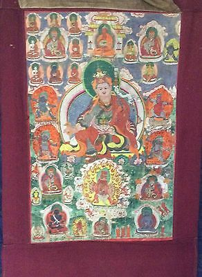 "RARE!!! NEPAL!! THANGKA PAINTING ABOUT 75 YEARS OLD.SIZE:26""x17"""