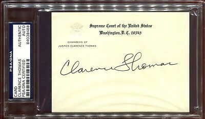 Clarence Thomas Supreme Court Justice Signed Chamber Card PSA DNA Autograph *88