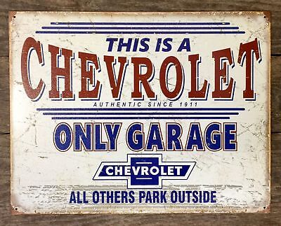 New Chevy Garage Other Park Outside Metal Sign Auto Shop Vtg Reproduction Gift