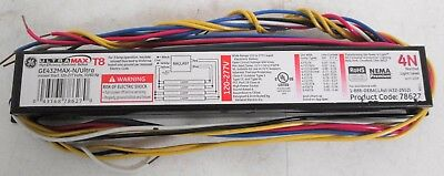 GE GE432MAX-N//ULTRA Ultra-Max Ballast 122-277V 50//60Hz for 2 4 F32T8