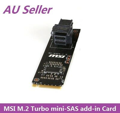 MSI Turbo U.2 Host Card, M.2 (PCIe) to mini-SAS HD SFF8639 Add-in Card MS-4404