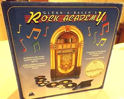 Rock Academy Board Game 4000 Triva Music Questions -Glenn Baker 100% Complete