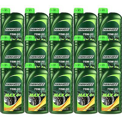 15x1 Litre FANFARO MAX 4+ 75W-90 GL-4+ API Transmission Oil fully synthetic Gear