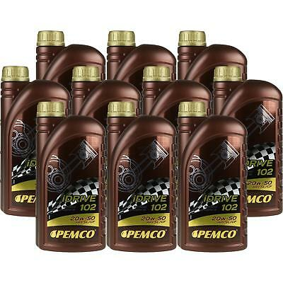 10X1 Litre Original Pemco Engine Oil iDrive 102 20W-50 API SL/CF Engine Oil Oil