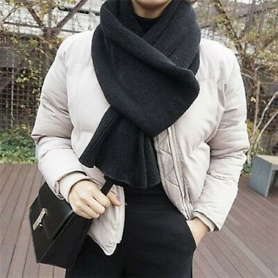 Mens Womens Faux Cashmere Scarf Winter Warm Knitted Shawl Stole Wrap Long Soft