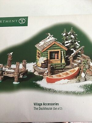 "Dept 56 Snow Village Accessory ""The Dockhouse"" 52863 NEW IN BOX"