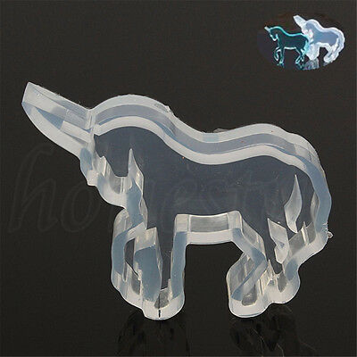 Animals Unicorn Silicone Mould DIY Resin Jewelry Making Pendant Necklace Mold