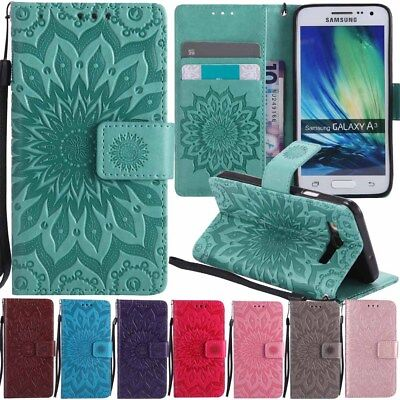 For Samsung Galaxy J3 J5 J7 A3 A5 2017 Flip Leather Wallet Stand Case Cover Skin