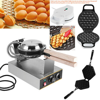 Non Stick Electric QQ Egg Oven Waffle Eggettes Baker Pan Maker Machine Tool SG