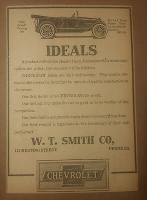 1918 Chevrolet Baby Grand Touring Car Ad Four Ninety Touring Automobile Chevy