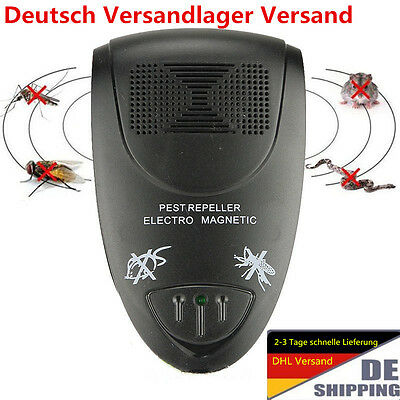 Electronic Ultrasonic Anti Mosquito Pest Killer Magnetic Repeller YW