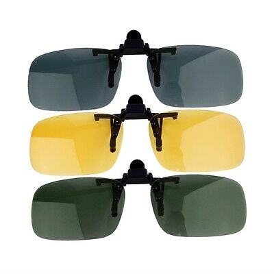Driving Night Vision Clip-on Flip-up Lens Sunglasses Glasses Cool Eyewear YW