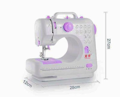 12 Stitches Household Multifunction Sewing Tool Electric Overlock Sewing Machine