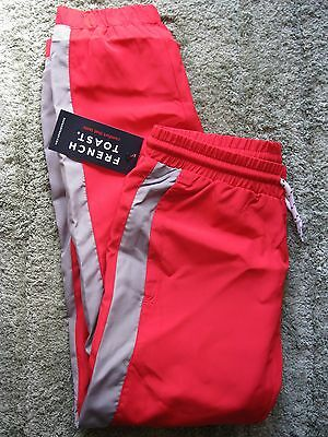 BOYS FRENCH TOAST RED FULLY LINED W/POCKETS POLYESTER TRACK PANTS size 5