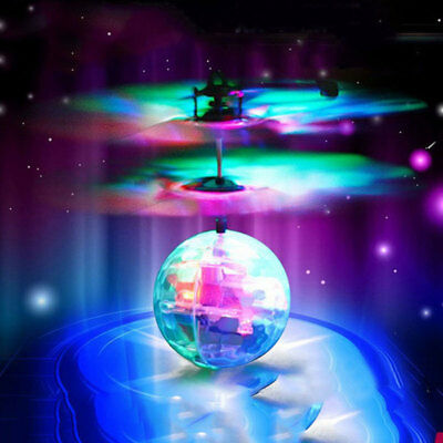 7 Colour Induction Electric Fly Ball Infrared Induction Aircraft Flash LED Toy