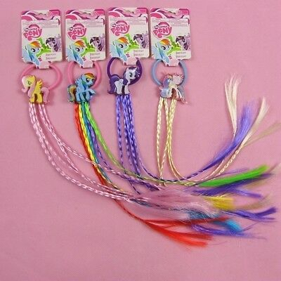 New My Little Pony Girl Kids Hair Ties Clips SET Wigs Hairpiece Cosplay Props