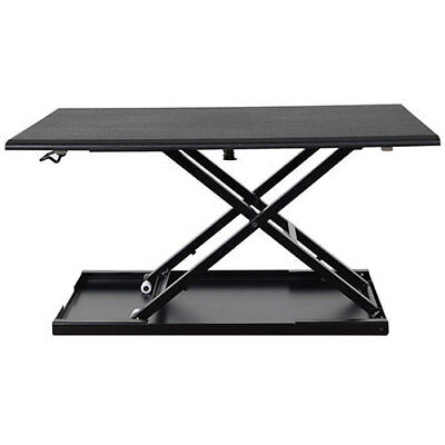 "Luxor Level Up 32 Pneumatic Sit-Stand Desktop Workstation, 31""W x 22""D, Lot of 1"