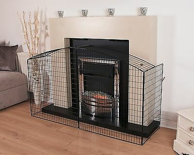 Classical Style Steel Fire Guard - fixed width