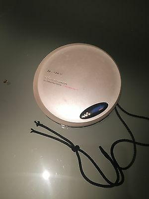 sony d-ej775 CD Walkman Portable CD + headphones Working Well Top Model