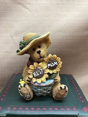 "Boyd`s Bearstone Mama Bearybloom NIB 1E ""Best Mom"""