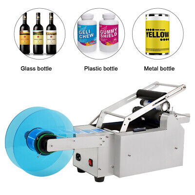 MT-50 Semi-automatic Round Bottle Labeler Labeling Machine Manual Labeling
