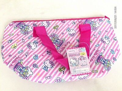 HELLO KITTY Bento Lunch Box Aluminum Lunch Bag Picnic Pink  Kawaii Sanrio