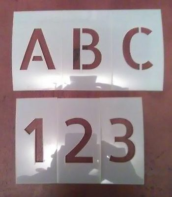 4 inch Allerta Uppercase Alphabet And Numbers Set Stencil