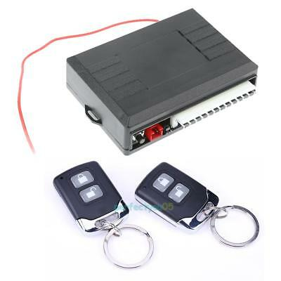 Car 2 Central Remote Keyless Entry Alarm Door Lock Kit Universal Vehicle System