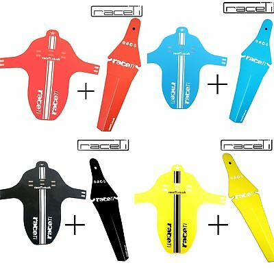 Front + Rear Mudguard Fork Fender Bicycle Face Ass MTB Mucky Mountain Enduro set