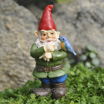 Miniature Fairy Garden Sherman Bluebird Gnome Pick
