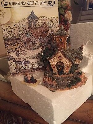 """2000 Boyds Bearly-Built Village """"the Chapel In The Woods""""  #19003"""