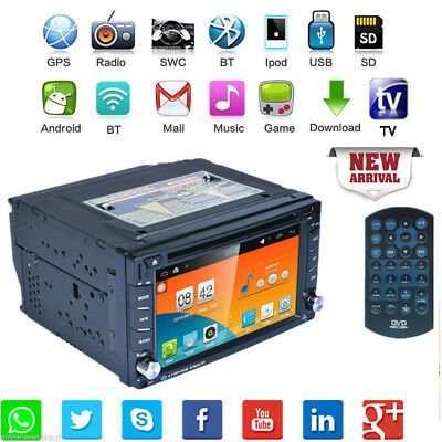 """2DIN 7"""" RDS Android 5. Autoradio Player WIFI GPS Bluetooth Car Stereo DVD 3G"""