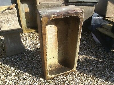 QUALITY Large vintage glazed stoneware sink garden planter.