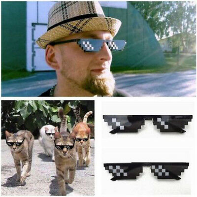 Thug Life Sunglasses Deal With It 8 Bit Pixel Cool Glasses Mlg Unisex Goggles
