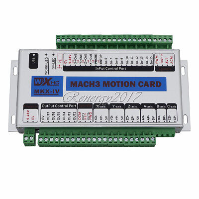 4 Axis CNC Mach3 Motion Controller Card Breakout Interface Board for Milling UK