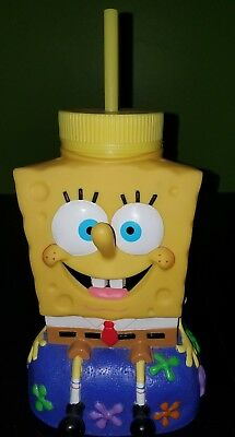 Universal Studios Hollywood CA SpongeBob SquarePants  32 Oz. Souvenir Sipper Cup