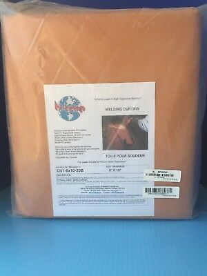 HI TEMP Welding Curtain,8 ft. W,10 ft.,Orange, O51-8X10-20-B