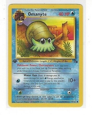FREE SHIPPING !! TENTACOOL 56//62 1st EDITION  FOSSIL M//NM