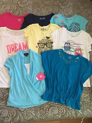 Huge Lot Of 8 Euc/nwt Girls Shirts Size 16 Justice Mudd So Iz Byer Red Camel
